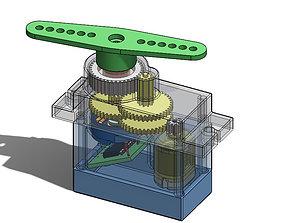 3D servo motor assembly
