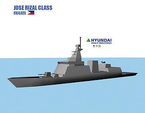 3D model Frigate Jose Rizal Class