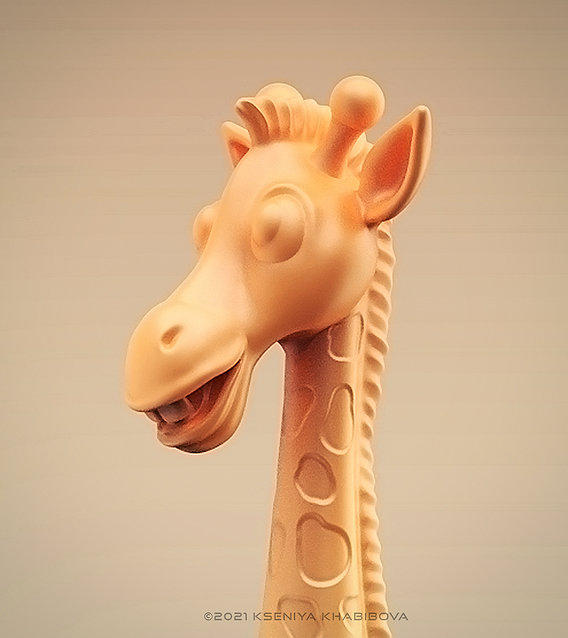 Stylized giraffe