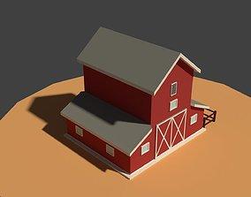 3D model Low Poly Cartoony Granary
