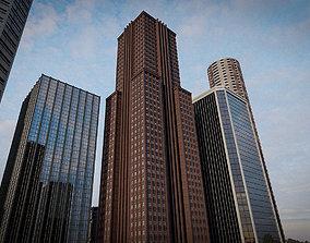 3D asset SKYSCRAPER CITY BUILDING 08