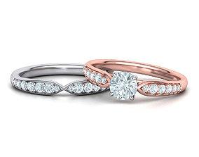 Unique Diamond Wedding SET collection 3D model