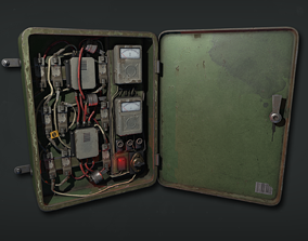 Fuse box Electrical panel Low poly Game Ready 3D asset