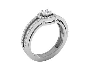 Women bride solitaire ring 3dm render detail gold