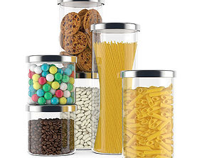 3D model Food containers
