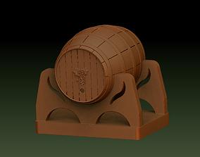 Wine barrel 3D print model