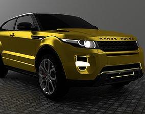 Range Rover Evoque 3D model vehicle