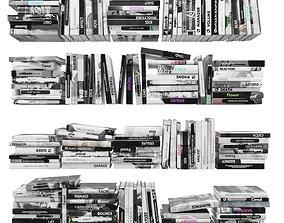 Books 150 pieces 2-4-5 3D asset