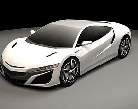 3D model supersport Acura NSX lowpoly