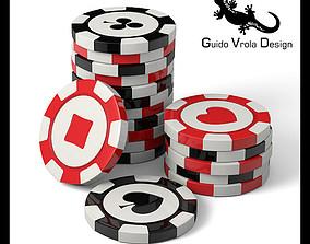 3D Casino chips