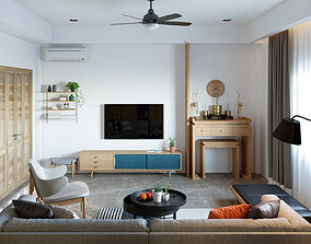 3D asset Project 2019 SCENE LIVING ROOM