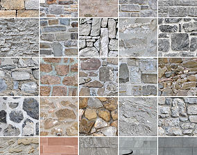 25 Seamless Stone Wall Textures 3D