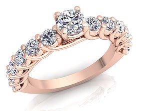 Woman Diamond Ring accessory 3D printable model