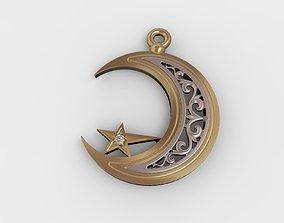 3D print model Muslim pendant