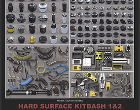 Hard Surface Kitbash Library - 1 and 2 3D model