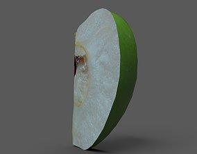 3D asset Apple Wedge Green