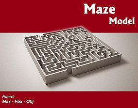 low-poly Maze model