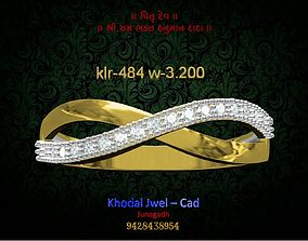 ladies ring 3D model realtime silver
