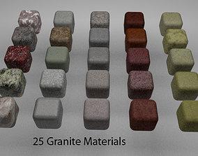 Granite Materials Pack 1 for C4D R20 3D