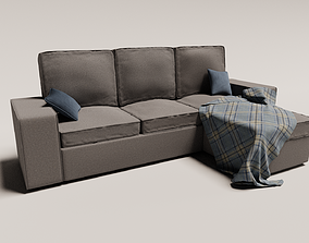 sofa - L shape 3D model