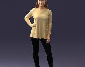 Woman in sweater 0073 3D Print Ready