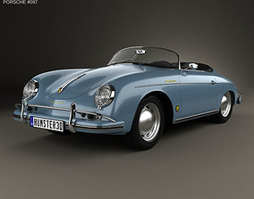 3D Porsche 356A 1600 Super Speedster 1955