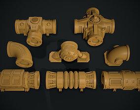 WAarhammer 40K Modular pipework system 3D print model