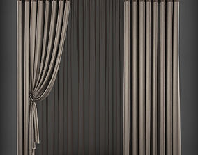 realtime Curtain 3D model 203