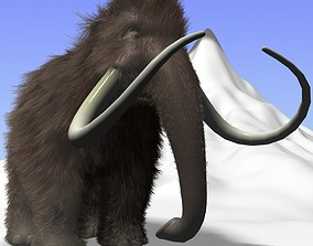 3D model Cartoon Mammoth Rigged