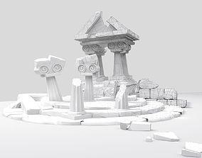 3D Cartoon Underwater Atlantis City