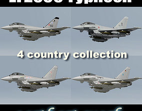 EF2000 Typhoon 4 country 3D