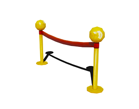 3D model Low Poly Stanchion with animation