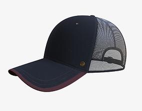 3D model VR / AR ready PBR Baseball Cap