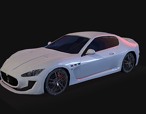 Maserati Gran Turismo Low Poly 3D model