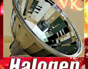 Halogen Bulb Lamp High detail 3D model