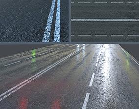3D model Wet asphalt