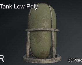 Fuel Tank - Silo Low Poly 3D model