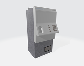 3D asset Apocalyptic Payphone
