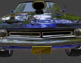 Dodge 3D model rigged