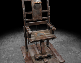 Electric Chair 3D asset low-poly