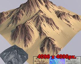 3D Mountain desert