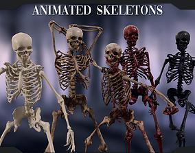 Lowpoly Male Human Skeleton 3D asset