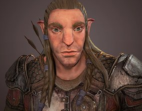 Monster archer high poly model