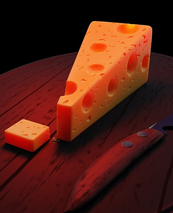 Realistic Slice of Cheese