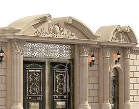 3D model entrance classic doors