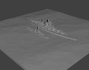 Waterline Base Template for Naval 3D printable model