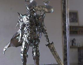 Dark Knight medieval Fantasy Horned helmet 3D model