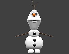 anna Olaf Frozen 3D Models