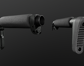3D asset ACE Ultra Lite AR15 Entry Length Stock