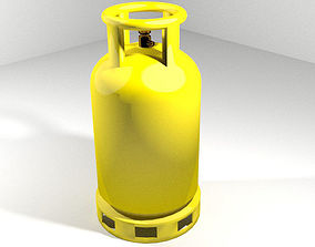 Gas Tank - Cylinder Type 1 3D model
